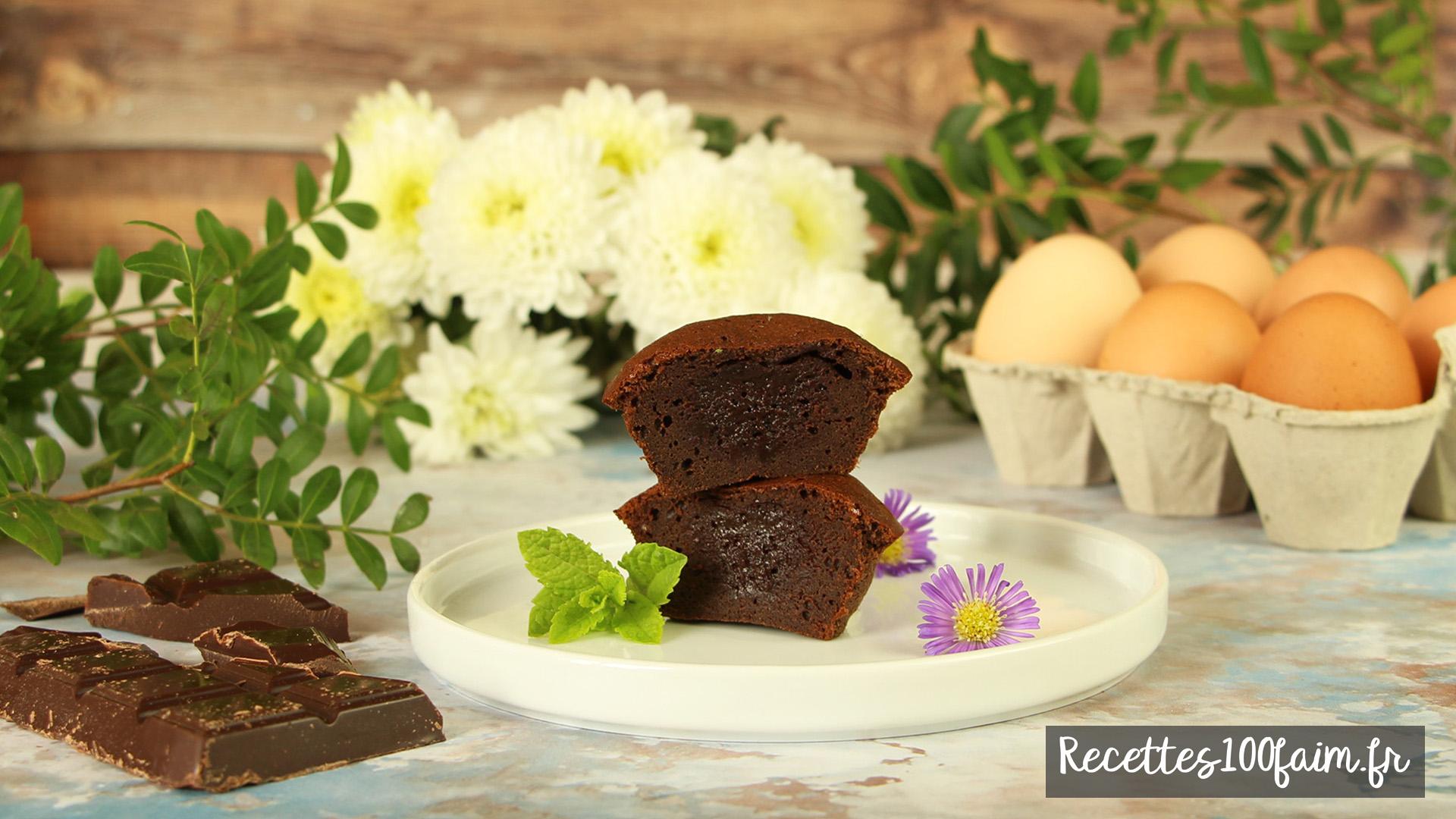recette mini fondants chocolat noir vanille