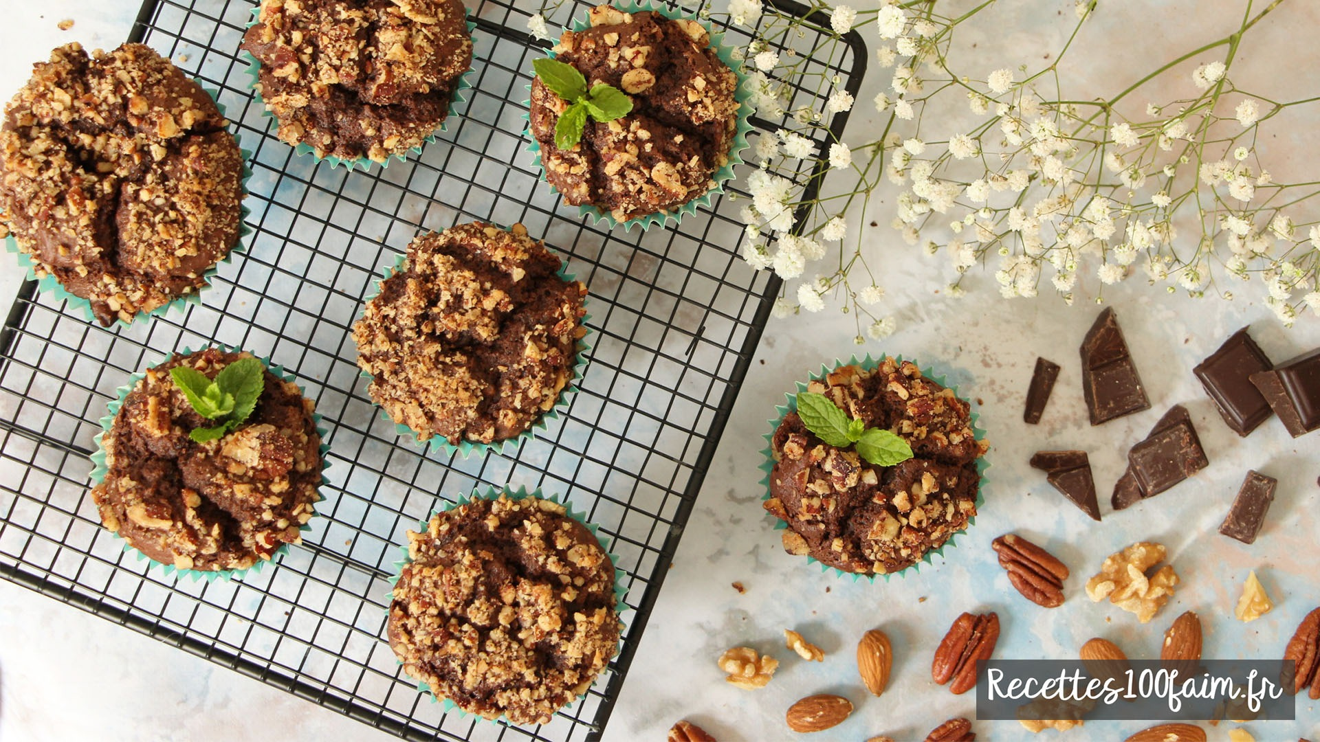 recette muffins chocolat noir graines