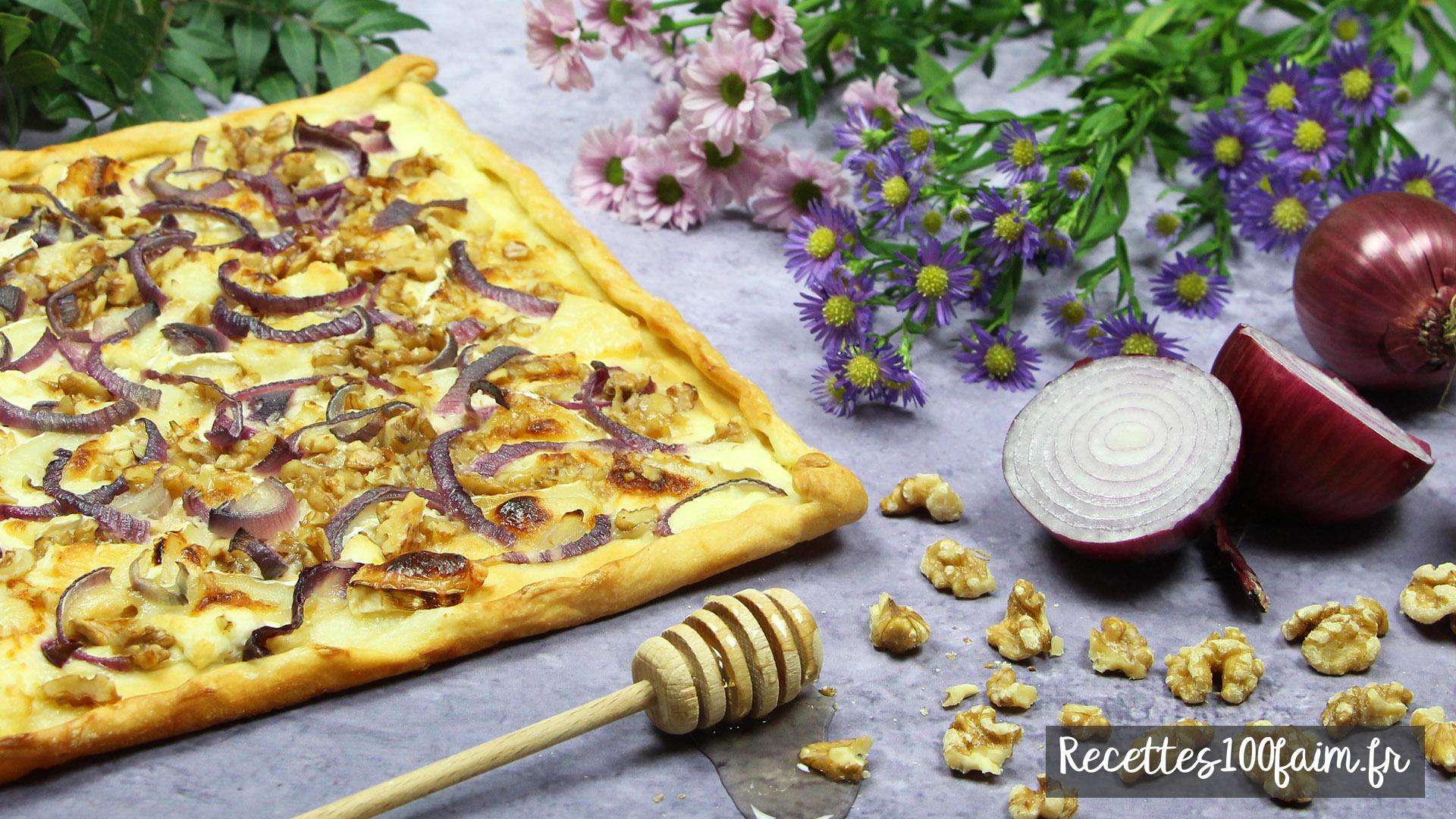 recette pizza chevre miel noix