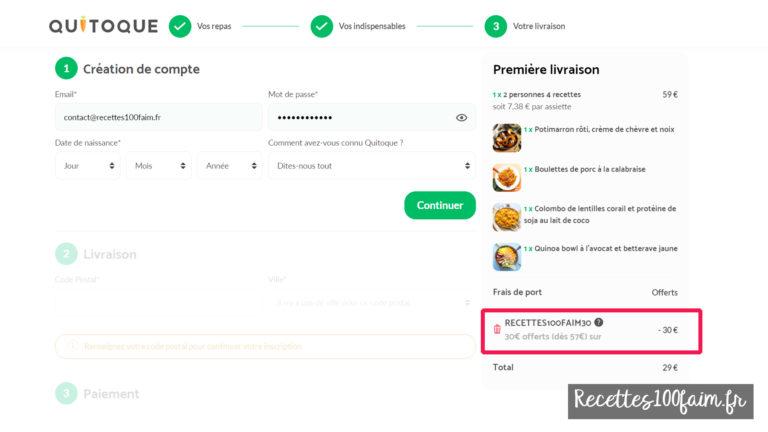 code promo quitoque recettes100faim