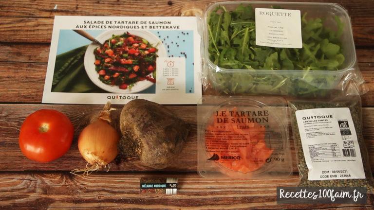 recette ingredients tartare saumon quitoque